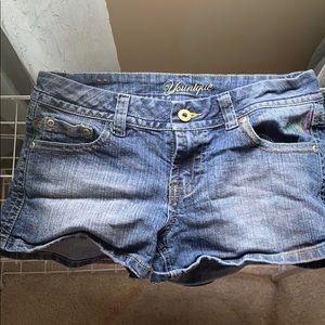 Jean shorts , juniors